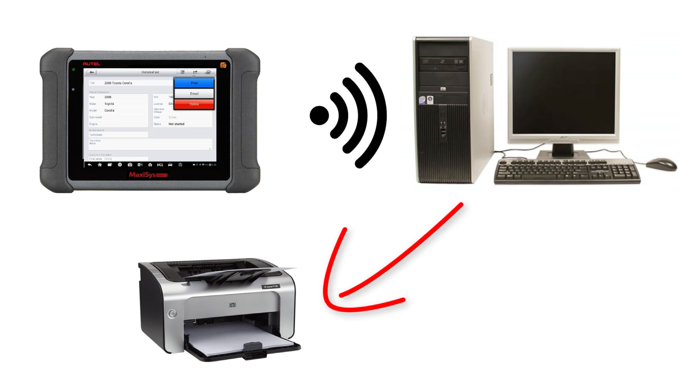 Autel-MaxiSYS-tablet-WIFI-PRINTING-Instruction-Guide-1