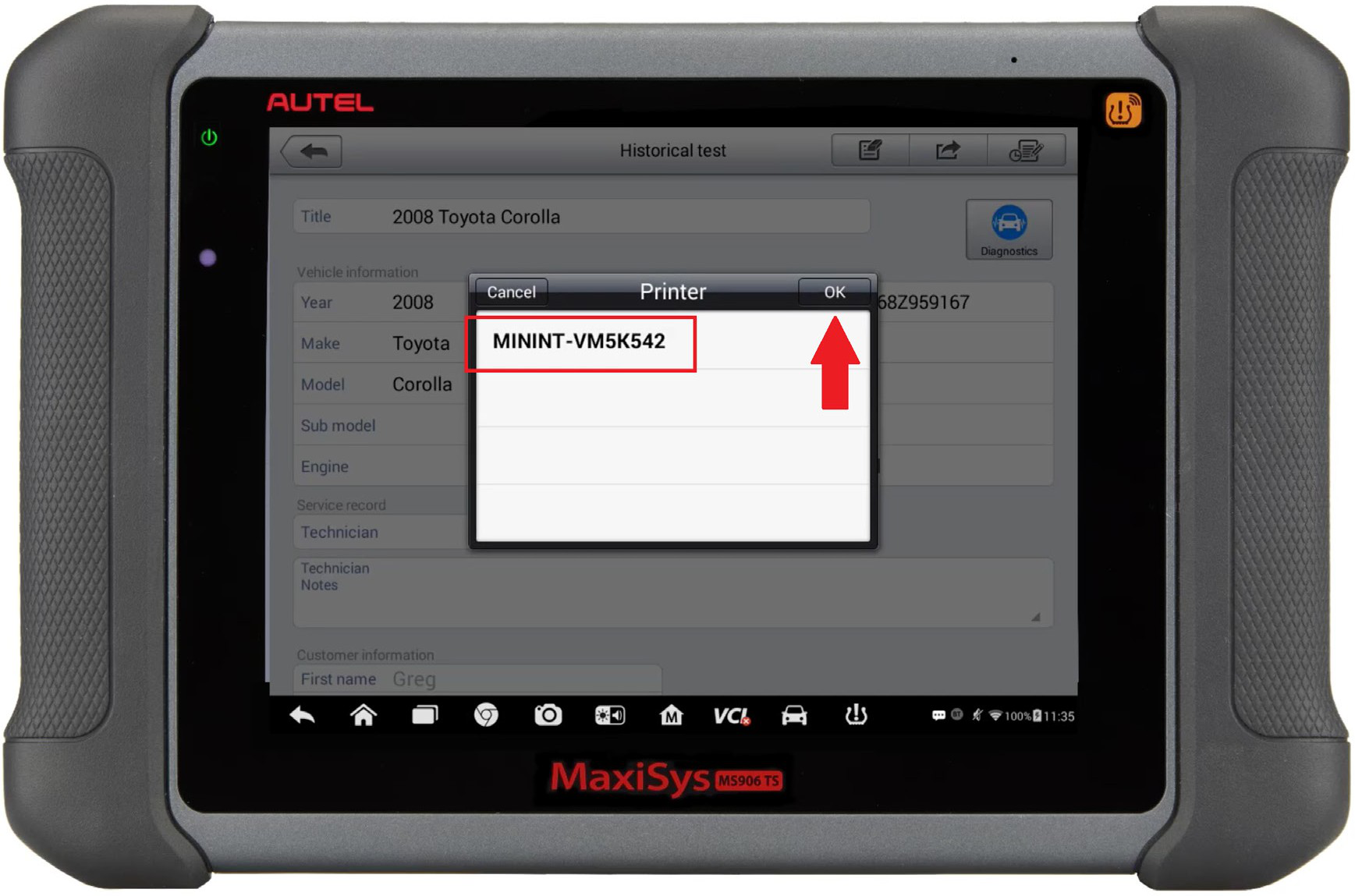Autel-MaxiSYS-tablet-WIFI-PRINTING-Instruction-Guide-15